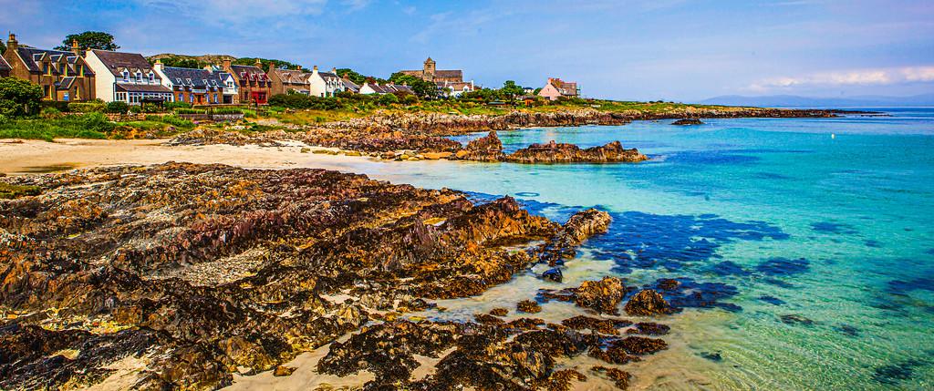 苏格兰美景,礁石海景
