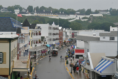 8 Mile in town from above - 2013 Mackinac Island 8 mile Run
