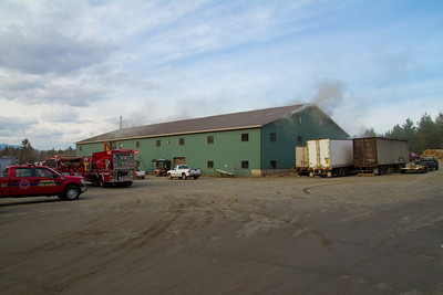 Structure Fire - New Vineyard Saw Mill - November 14th, 2011
