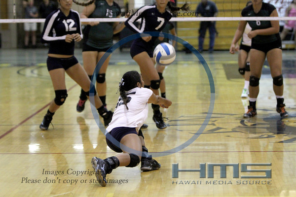 Waimea Girls Volleyball - Pah 10-29-13
