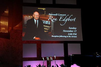 Ron Edgbert's Farwell Concert
