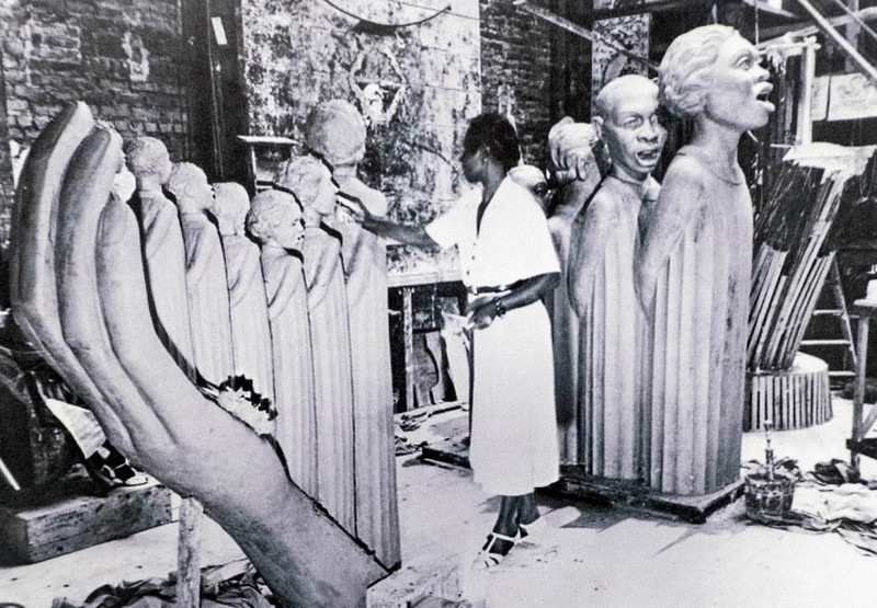 Augusta Savage making The Harp for 1939 World's Fair_The Crisis April 1939.jpg