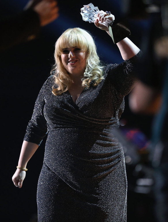 . Presenter Rebel Wilson onstage at the 18th Annual Critics\' Choice Movie Awards held at Barker Hangar on January 10, 2013 in Santa Monica, California.  (Photo by Christopher Polk/Getty Images for BFCA)