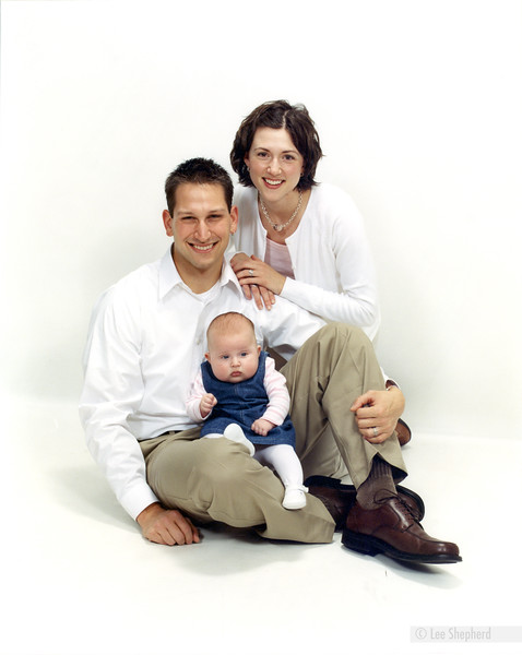 Our first ever family portrait.  Madeline was 3mos. old.