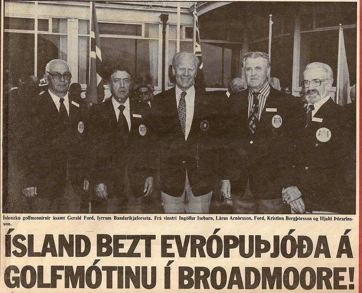 Broadmoore 1978. Heimsmót eldri kylfinga.