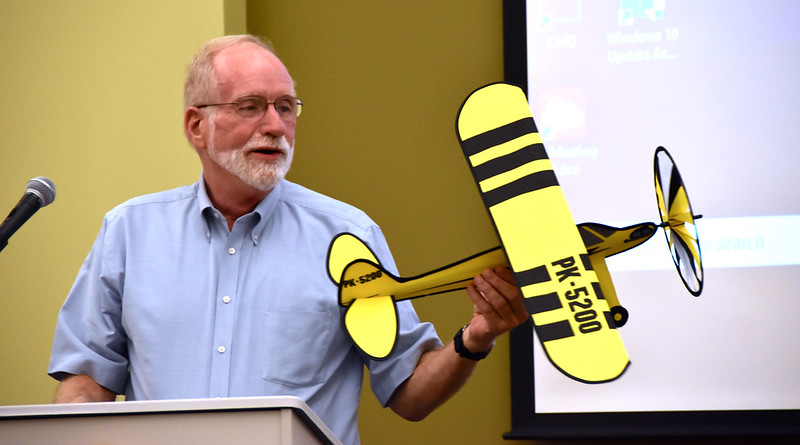 Fr. Ed notes that the office staff took up a collection to get him a private plane... this is what he received.