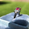 1.71ctw Ruby and Diamond Trilogy Ring 32