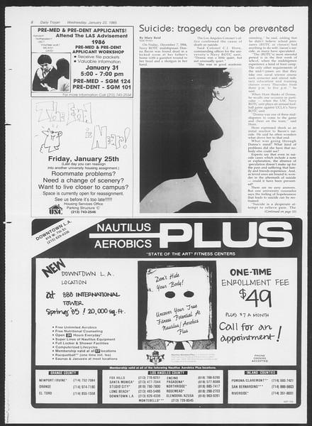Daily Trojan, Vol. 98, No. 9, January 23, 1985