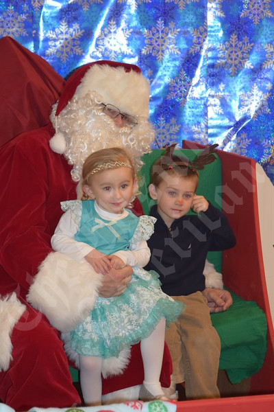 Santa visits Moore Center