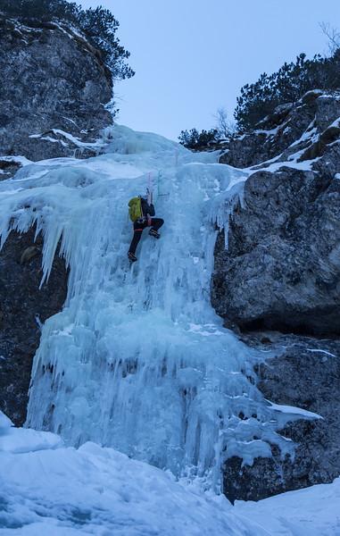 01 29 Ice climbing Zapotoski, Juliana Waterfall