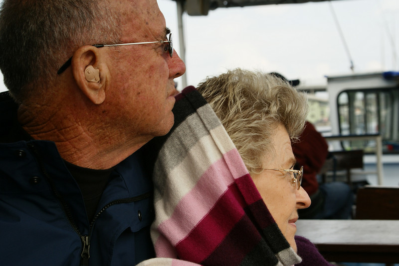 Mom and dad during the river cruise.