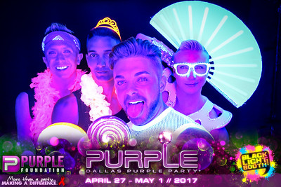 THE PURPLE PARTY | Blacklight Photo Booth