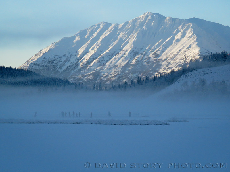 Tern Lake hockey. Upper Kenai, AK.