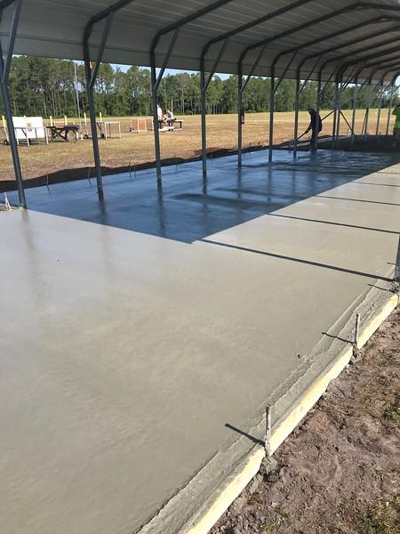 Concrete pour, June 2019