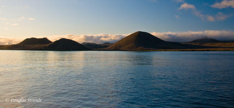View from our ship of Cormorant Point, Floreana Island