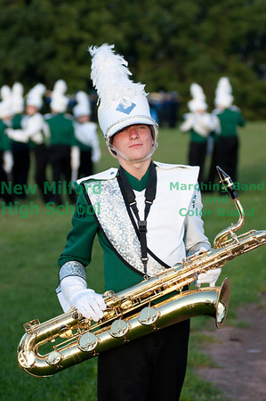 NMHS Band and Color Guard at Danbury High School, September 10, 2011