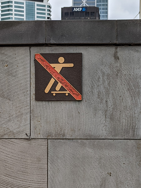 We loved how the stick figures look in New Zealand on the signs.