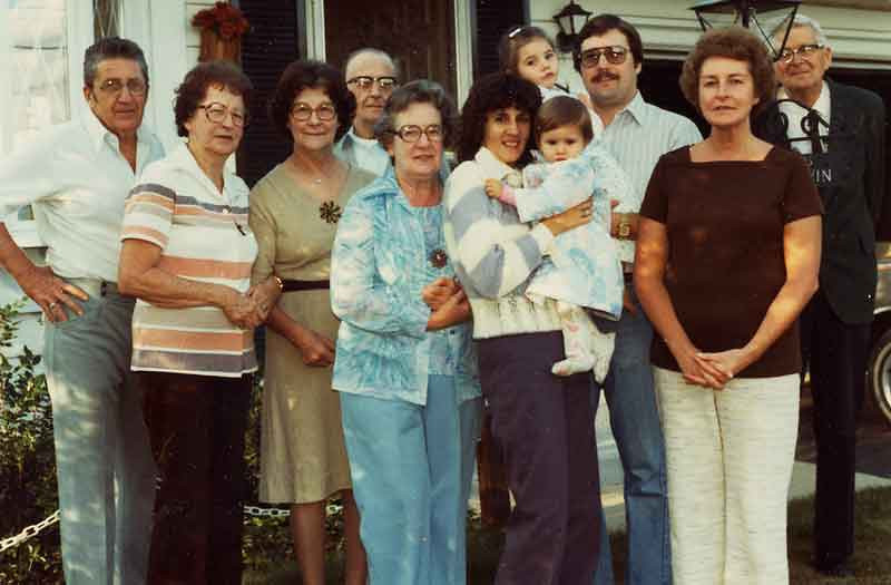 This was a reunion of the Potwin side of the family at Shirley and Harrys house in Jamestown, NY