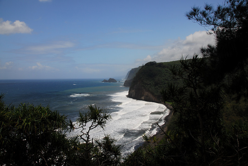 Coastal cliffs in Pololu Valley, Hawaii