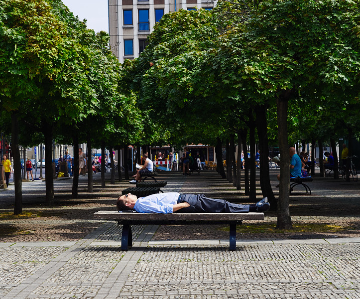 A nap in a park in Berlin