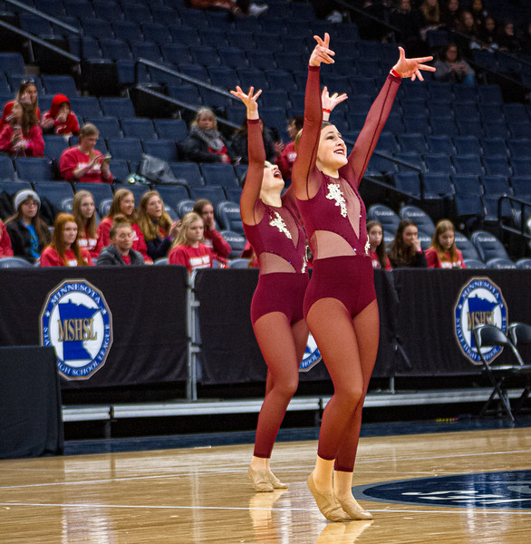 Holy Family's Abbey Hope '23 at 2020 MSHSL State Jazz Tournament Prelim - Collin Nawrocki/The Phoenix