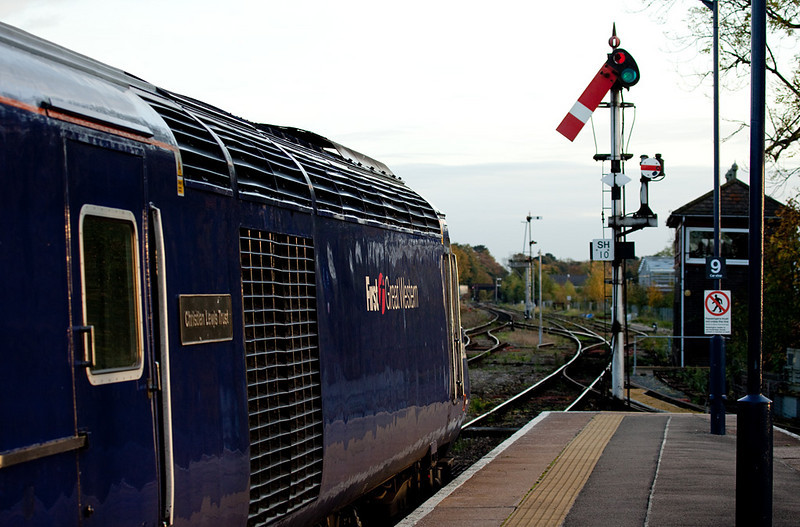 FGW HST departing Worcester Shrub Hill for London Paddington.