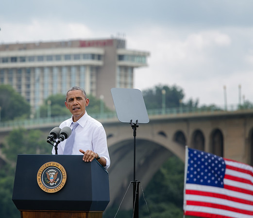 President Obama Talked Infrastructure and Economy