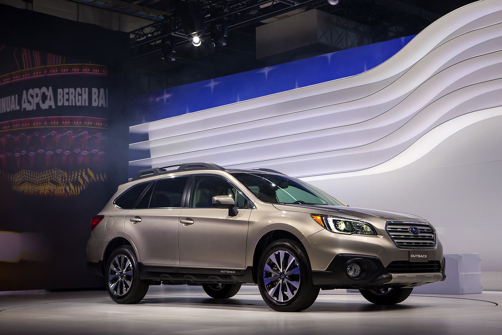 . The 2015 Subaru Outback is unveiled during a media preview of the 2014 New York International Auto Show in New York. The show opens with a sneak preview to the public April 18th and runs through April 27th. (Photo by Eric Thayer/Getty Images)
