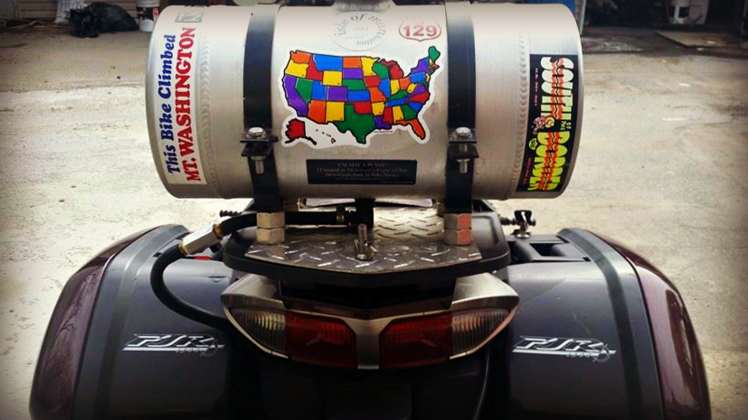 Nefs FJR with cool us state sticker travel map