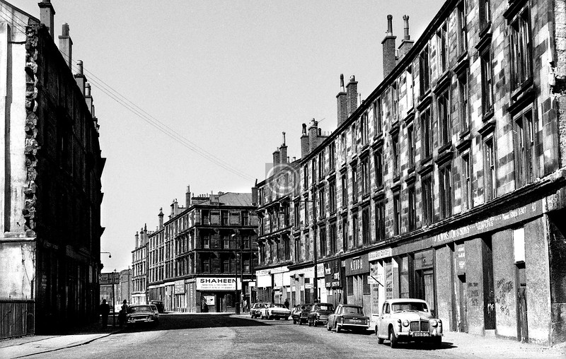 Old Rutherglen Rd, looking west from near Hospital St to Dunmore St.    April 1973