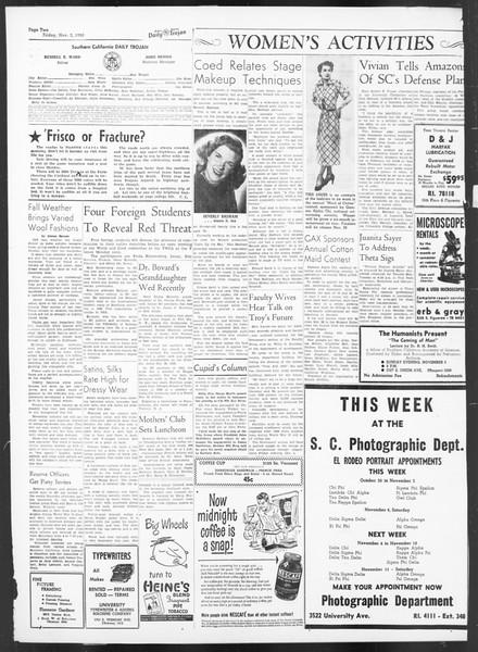 Daily Trojan, Vol. 42, No. 35, November 03, 1950