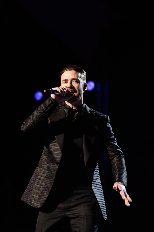 . LOS ANGELES, CA - JUNE 30:  Singer Justin Timberlake performs onstage during the 2013 BET Awards at Nokia Theatre L.A. Live on June 30, 2013 in Los Angeles, California.  (Photo by Kevin Winter/Getty Images for BET)