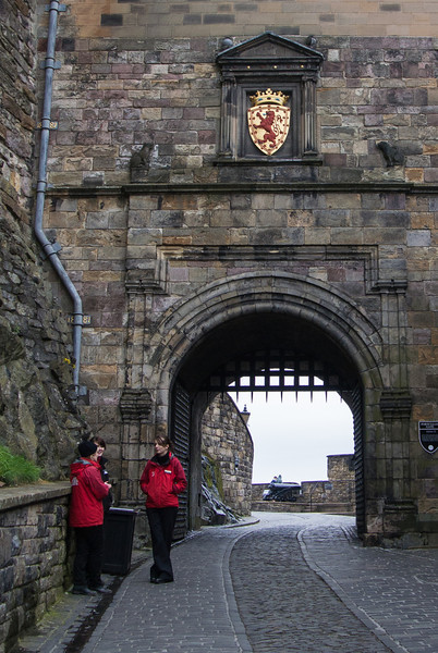 Exiting the castle