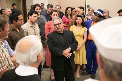 Louis Valdez visits Zoot Suit cast 2013