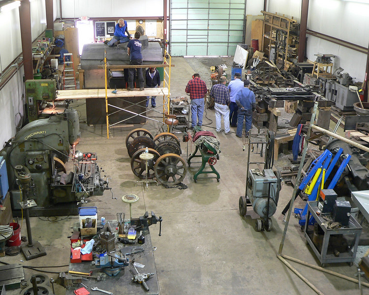 A June 2005 overview of the John P. Killoran Restoration shop.