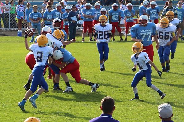 2014 AMS Football at Lakeland (8th grade first then 7th grade)