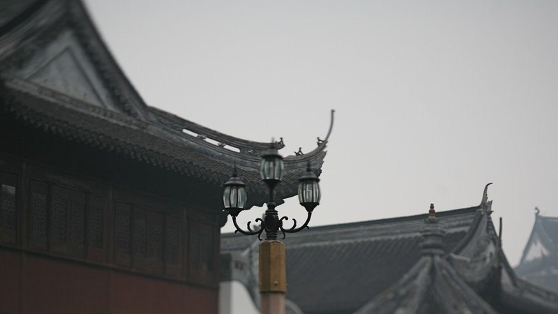Street Light and Rooftops, Shanghai, China