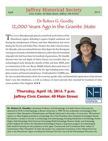 2014 Robert Goodby Program