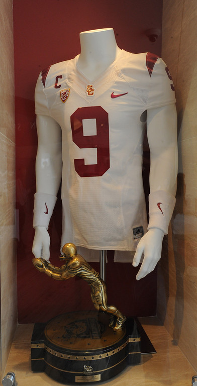 . The Biletnikoff Award was given to Marqise Lee in 2012. Heritage Hall, which houses USC\'s athletic department, has been closed for the past year while undergoing a $35-million renovation.  The building first opened in 1971 at a cost of $2.8 million and was originally 48,000 square feet. It now is 80,000 square feet. As part of the renovation, Heritage Hall\'s two-story lobby has been transformed into a state-of-the-art museum space featuring interactive displays. Heritage Hall also includes a sports performance center, a broadcast studio, a lounge for Women of Troy student-athletes, a rowing ergometer room and an indoor golf driving area, plus new locker rooms, meeting rooms, equipment room and event space.   Los Angeles , CA. January 30, 2014 (Photo by John McCoy / Los Angeles Daily News)