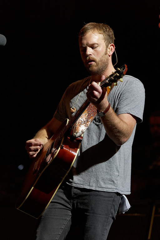 . Caleb Followill of Kings Of Leon at DTE-8-1-14. Photo by Ken Settle