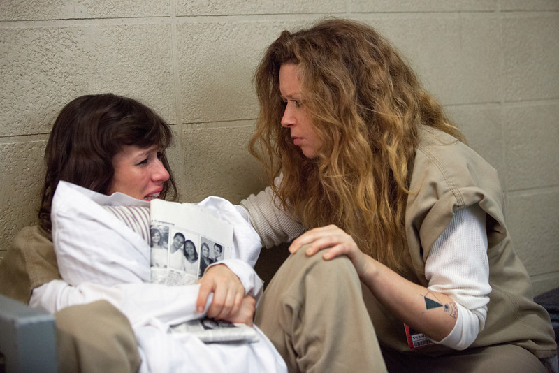 . Yael Stone (L) and Natasha Lyonne (R) in a scene from Netflix�s �Orange is the New Black� Season 2. (Jessica Miglio, Netflix)