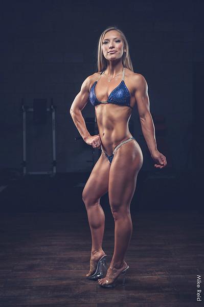 Stephanie Caywood. NPC Idaho Muscle Classic overall bikini champion 2018. In the gym.