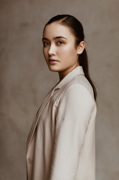 """@noelle.giese 5'7""""   Shirt Small   Dress 2   Bust 32B   Shoe 8.5   127lbs Ethnicity: Chinese/German Skills: Chinese Mix Model, Choreograph Dancer, Yoga, Ballet."""