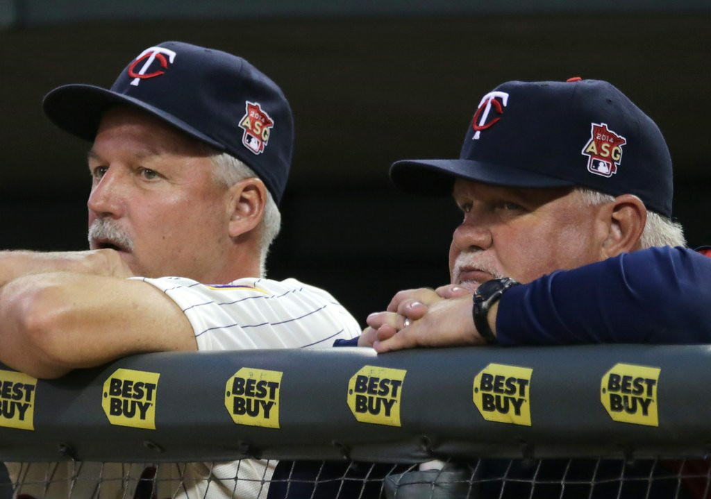 ". <p><b> History was made at Target Field on Sunday when Twins manager Ron Gardenhire did this for the 1,000th time � </b> </p><p> A. Lost a game </p><p> B. Won a game </p><p> C. Scratched Joe Mauer�s name out of the lineup </p><p><b><a href=""http://www.twincities.com/twins/ci_26184963/rays-sweep-minnesota-twins-its-gardenhires-1-000th\"" target=\""_blank\"">LINK</a></b> </p><p>    (AP Photo/Jim Mone)</p>"
