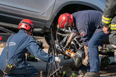 West Hoover Place Car vs. Building Accident