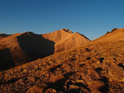 Montgomery Peak via Boundary two times.  9.2.12