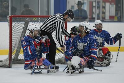 Team 4 vs SA Rampage Sled Hockey