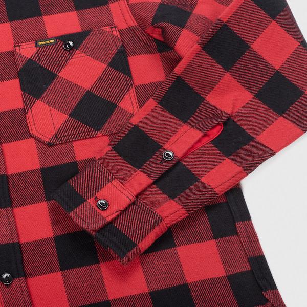 Ultra Heavy Flannel Buffalo Check Work Shirt - Red-Black--6.jpg