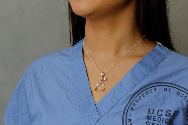 Janet's Stethoscope Pendant by Atelier Gigi