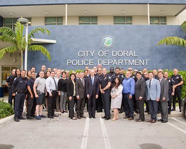 6-8-2015 Doral Police Department Visit